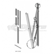 """Lippert Components Solera 69"""" Standard Flat Awning Support Arm Assembly - White"""
