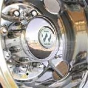 "Wheel Masters Hub Mount Stainless Steel Hose Kit for Inner 16""-22 1/2"" Dual Wheels"