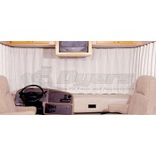 "RV Designer Oyster 130"" to 190"" Pleated Windshield Curtain"