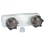 Phoenix White with Smoke Handled Shower Valve with Vacuum Breaker
