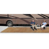 Prest-O-Fit Harvest Gold 6' x 15' Outdoor Patio Rug