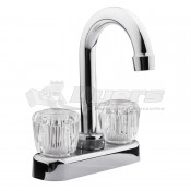 DURA Clear Knobs Chrome RV Bar or Lavatory Faucet