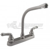 DURA Classical Hi-Rise Brushed Satin Nickel RV Kitchen Faucet
