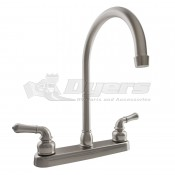 DURA J-Spout Brushed Satin Nickel RV Kitchen Faucet