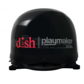 Winegard DISH Playmaker Dual Satellite TV Antenna in Black