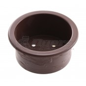 "Plastic 3"" x 1-1/2"" Brown Drop-In Cup Holder 78-1RBN"