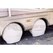 "ADCO Polar White 24""-26"" Single Axle Tyre Gards"
