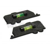 Prime Products Black Trailer Stick-On Level