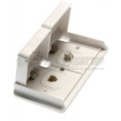 Prime Products Polar White Outdoor Phone and TV Outlet