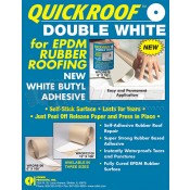 "Quick Roof 12"" x 100' White/White Back EPDM Roof Repair"