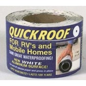 "Quick Roof 3"" x 25' White/Black Back Roof Repair Quick Roof"