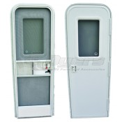AP Products 28 x 72 Radius Entrance Door RH - White Lock