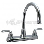 Phoenix Chrome Two Handle Hybrid Hi-Arc Kitchen Faucet