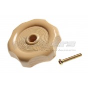 "RV Designer 1/2"" Beige Window Knob"