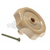 "RV Designer 1"" Beige Window Knob"