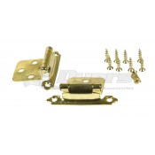 RV Designer Brass Self-Closing Hinge Set