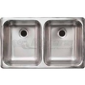 "Heng's Stainless Steel 25"" x 15"" x 5""  Double Sink"