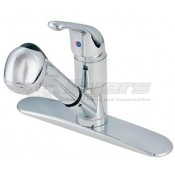 American Brass Chrome Kitchen Faucet Single Lever Pull-Out