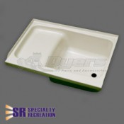 """Specialty Recreation 24"""" x 36"""" Right Hand Parchment Step Tub"""