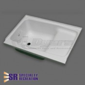 "Specialty Recreation 24"" x 36"" Left Hand White Step Tub"