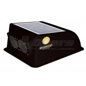 RV Solar Powered Black Sun Vent Cover