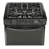 "Suburban 22"" Sealed Burner Black 3-Burner Range"