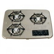 Suburban Stainless Steel 3-Burner Drop-In Cooktop