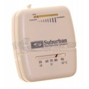 Suburban White 161154 SF Series Heat Only Wall Thermostat
