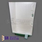 "Specialty Recreation 24"" x 32"" White Shower Surround"