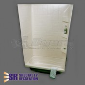 "Specialty Recreation 24"" x 38"" Parchment Shower Surround"