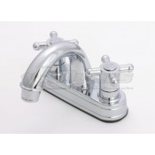 Empire Brass Company Chrome Cross Handle Arc Spout Lavatory Faucet