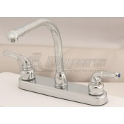 Empire Brass Company Chrome Teapot Handle High Rise Kitchen Faucet