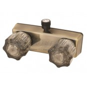 Empire Brass Company Antique Brass Shower Valve with Smoke Knobs