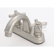 Empire Brass Company Brushed Nickle Cross Handle Arc Spout Lavatory Faucet