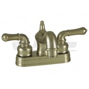 Empire Brass Company Brushed Nickel Teapot Handle Old World Spout Lavatory Faucet