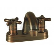 Empire Brass Company Oil Rubbed Bronze Cross Handle Arc Spout Lavatory Faucet