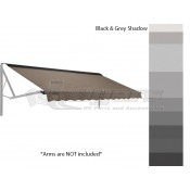 Dometic WeatherPro Woven Acrylic Awning 12' Black & Gray Shadow with Polar White Hardware
