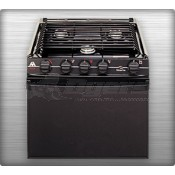 "Atwood Wedgewood Black 3-Burner 21"" Range with Manual Ignition"